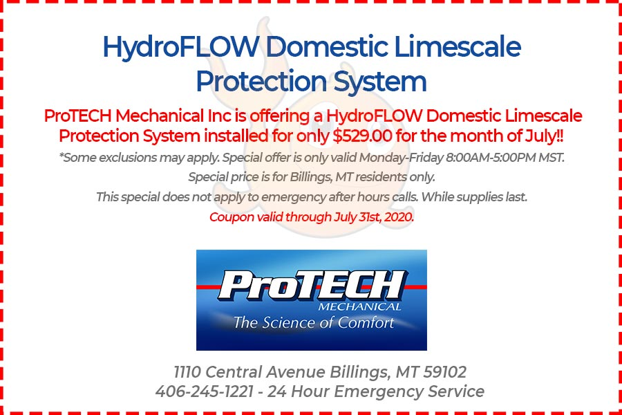 HydroFLOW domestic limescale protection system coupon